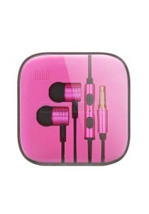 Piston Earphone with Remote & Mic for Smartphones - Pink