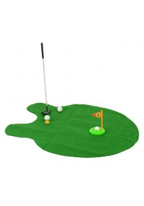New Funny Toilet Bathroom Mini Golf Mat Potty Putter Game