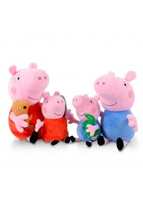 4-In-1 Peppa Pig Family Set Plush Toy - Summer Design