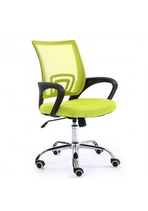 Mid-Back Office Chair with Lumbar Support - Green