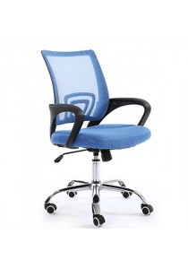 Mid-Back Office Chair with Lumbar Support - Sky Blue