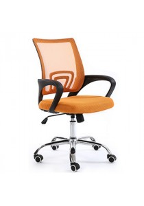 Mid-Back Office Chair with Lumbar Support - Orange
