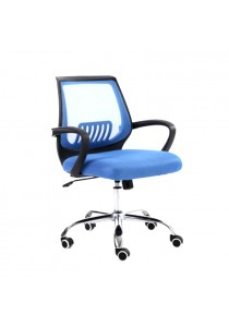 Modern Office Chair with Lumbar Support - Sky Blue