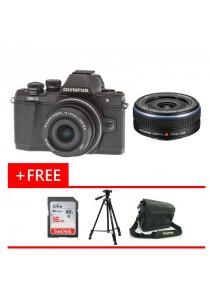 Olympus OMD EM10 MKII Black 14-42MM EZ + 17mm F2.8 + 16GB + Bag + Tripod (Original Malaysia Warranty)