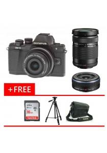 Olympus OMD EM10 MKII Black 14-42MM EZ + 17mm F2.8 + 40-150mm + 16GB + Bag + Tripod (Malaysia Warranty)