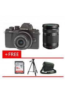 Olympus OMD EM10 MKII Black 14-42MM EZ + 40-150mm + 16GB + Bag + Tripod (Original Malaysia Warranty)