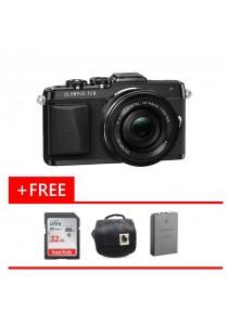 DSLR Olympus Pen E-PL7 (M.ZUIKO 14-42MM EZ) (Black) + (Free SD Ultra 32GB + Photography Bag + Battery)