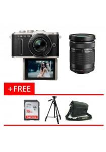 Olympus Pen EPL8 Black 14-42MM EZ + 40-150mm Lens + 16GB Card + Bag + Tripod (Original Malaysia Warranty)