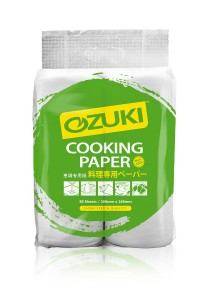 Ozuki Premium Cooking Paper 80 sheets x 2 rolls