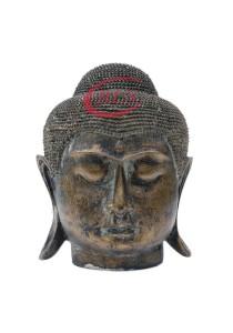 Polyresin Buddha Head Statue Decor RHF032 - Golden Color
