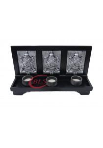 Ganesha Home Decoration GH240 Silver Color - Gift