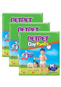 PETPET Day Pants Diaper Jumbo Packs M54 (3 packs)
