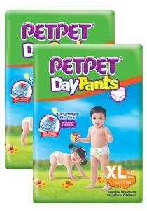 PETPET Day Pants Diaper Jumbo Packs XL40 (2packs)