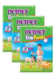 PETPET Day Pants Diaper Jumbo Packs XL40 (3 packs)