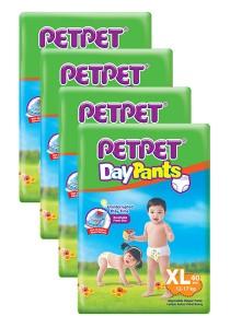 PETPET Day Pants Diaper Jumbo Packs XL40 (4 packs)