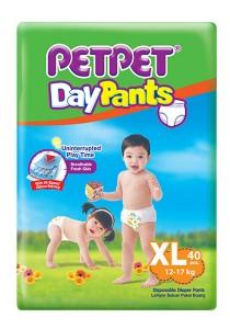 PETPET Day Pants Diaper Jumbo Packs XL40