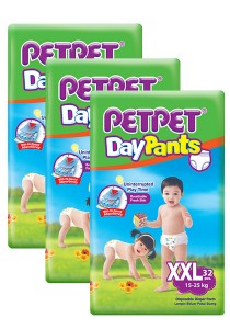 PETPET Day Pants Diaper Jumbo Packs XXL32 (3 packs)