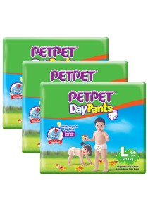 PETPET Day Pants Diaper Mega Packs L66 (3packs)