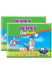 PETPET Day Pants Diaper Mega Packs M76 (2 packs)
