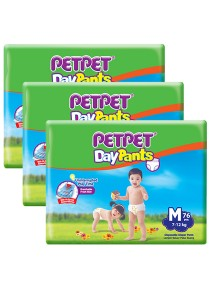 PETPET Day Pants Diaper Mega Packs M76 (3packs)