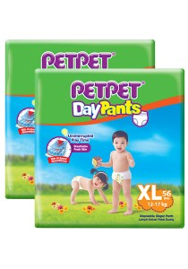 PETPET Day Pants Diaper Mega Packs XL56 (2 packs)