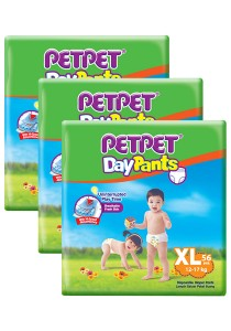 PETPET Day Pants Diaper Mega Packs XL56 (3packs)