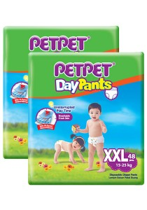 PETPET Day Pants Diaper Mega Packs XXL48 (2 packs)