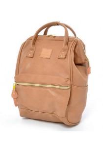 Anello Original Unisex PU Faux Leather Mini Backpack Rucksack Bag (PI)