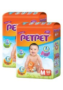 PETPET Tape Diaper Jumbo Packs M50 (2packs)