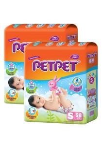 PETPET Tape Diaper Jumbo Packs S58 (2packs)