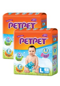 PETPET Tape Diaper Mega Packs L64 (2packs)