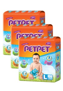 PETPET Tape Diaper Mega Packs L64 (3packs)