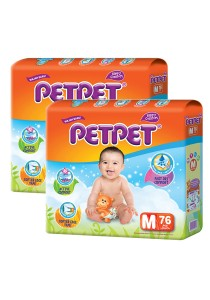 PETPET Tape Diaper Mega Packs M76 (2packs)