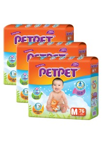 PETPET Tape Diaper Mega Packs M76 (3packs)