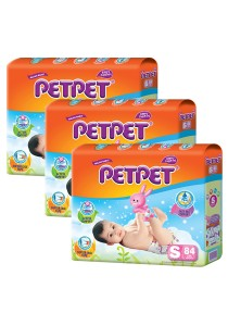 PETPET Tape Diaper Mega Packs S84 (3packs)