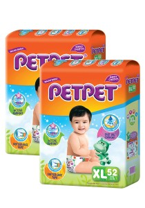 PETPET Tape Diaper Mega Packs XL52 (2packs)