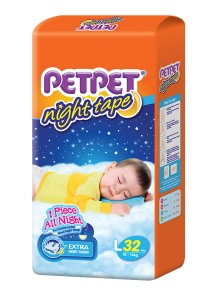 PETPET Night Tape Diaper Jumbo Packs L32
