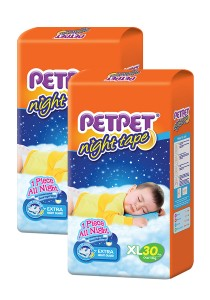 PETPET Night Tape Diaper Jumbo Packs XL30 (2packs)