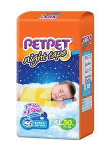 PETPET Night Tape Diaper Jumbo Packs XL30