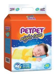 PETPET Night Tape Diaper Mega Packs L50