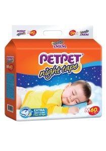 PETPET Night Tape Diaper Mega Packs M60