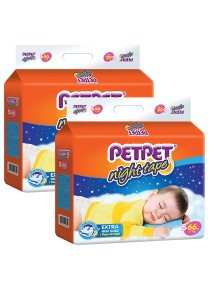 PETPET Night Tape Diaper Mega Packs S66 (2 packs)