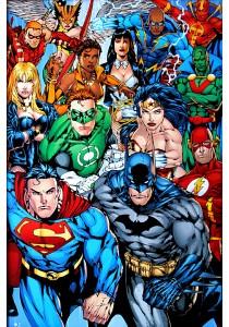 DC Comics Collage - GB Eye Poster (61 cm X 91.5 cm)