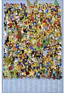 The Simpsons Casts - GB Eye Poster (61 cm X 91.5 cm)