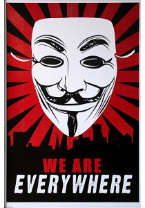 Framed Poster: V For Vendetta (We Are Everywhere) - Pyramid International Poster (61 cm X 91.5 cm)