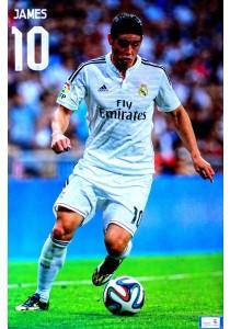 Framed Poster: James Rodriguez of Real Madrid CF (2014-15) - Poster (61 cm X 91.5 cm)