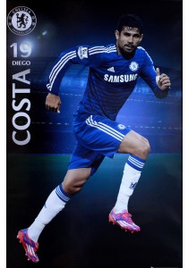 Framed Poster: Diego Costa of Chelsea FC (2014-15) - GB Eye Poster (61 cm X 91.5 cm)