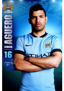 Sergio Aguero of Manchester City FC (2014-15) - GB Eye Poster (61 cm X 91.5 cm)