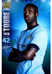 Yaya Toure of Manchester City FC (2014-15) - GB Eye Poster (61 cm X 91.5 cm)