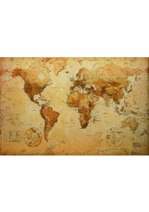 World Map (Antique Style) - GB Eye Poster (61 cm X 91.5 cm)